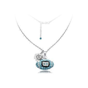 925 Sterling Silver Rhodium Plated Spirit Football Necklace University Of and Carolina 18 Inch Jewelry Gifts for Women