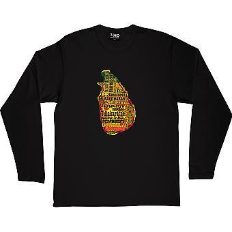 Sri Lanka World Champions 1996 musta pitkähihainen T-paita