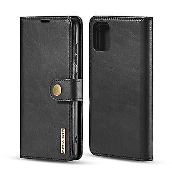 Dg. MING Samsung Galaxy A51 Split Leather Wallet Case - Black