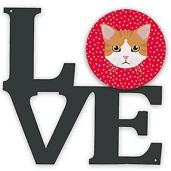 European Shorthair Cat Love Metal Wall Artwork LOVE