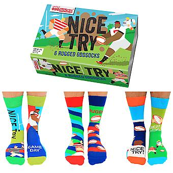 United Oddsocks Men's Nice Try Rugby Socks