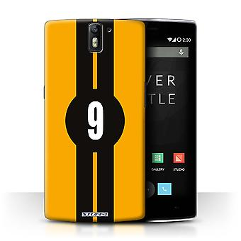 STUFF4 Case/Cover for OnePlus One/Ford/Yellow/Racing Car Stripes