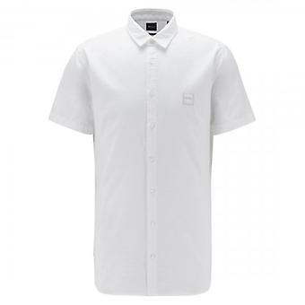 مدرب أورانج هوغو بوس Magneton_1 قصيرة الأكمام أكسفورد قميص أبيض 100 50406334