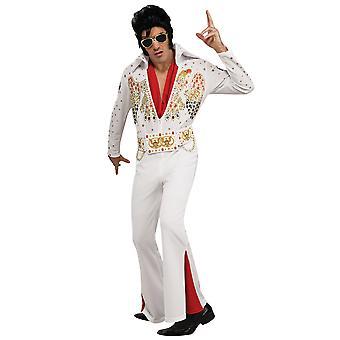 Elvis 1950s King of Rock n Roll Deluxe Eagle Jumpsuit Men Costume
