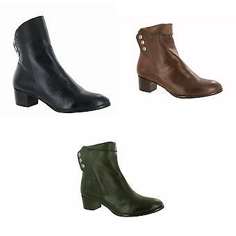 Riva mujeres/damas nueva botones cuero tobillo botas
