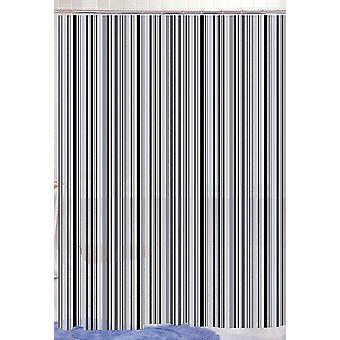 Schwarzer linearen Streifen schwarz Peva Dusche Vorhang 180 X 180cm