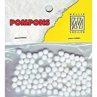 Nellie's Choice Mini pompoms Blanco 100 PC 3mm POM001