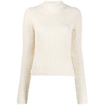 Acne Studios A60157aeg Women's White Wool Sweater