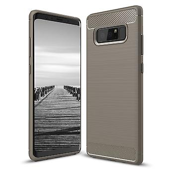 Shell for Samsung Galaxy Note 8 Case Protection Armor Carbon Fiber Grey