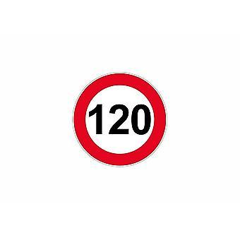 Stick sticker signage plate door speed limit sign 120