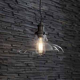 Garden Trading Hoxton Large Glass And Antiques Bronze Pendant Light