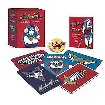 Wonder Woman - Magnets - Pin - and Book Set by Matthew K. Manning - 97