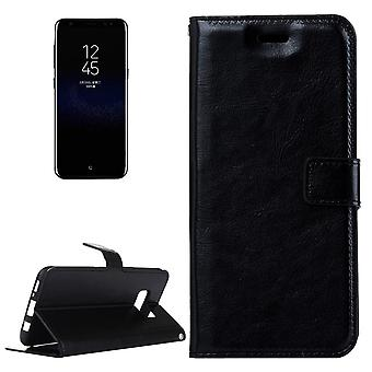 For Samsung Galaxy S8 Case,Elegant Luxury Horse Textured Leather Cover,Black
