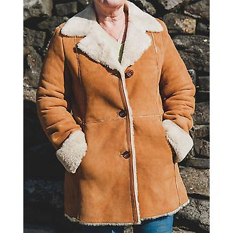 Nordvek Womens Sheepskin Coat - Suede Sheepskin Long Jacket # 709-100