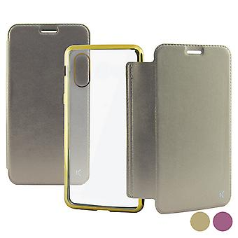 Folio matkapuhelin tapauksessa Iphone X /xs KSIX/Gold