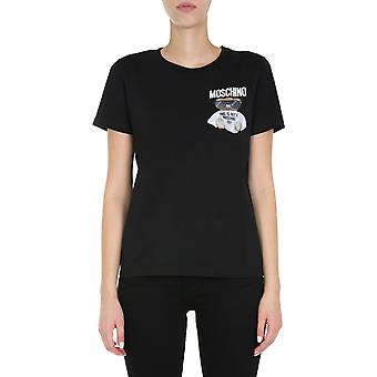 Moschino 070555401555 Women's Black Cotton T-shirt
