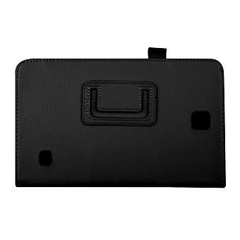 "Magnetic PU Leather Case Cover for Samsung Galaxy Tab 4 8"" T330[Black]"