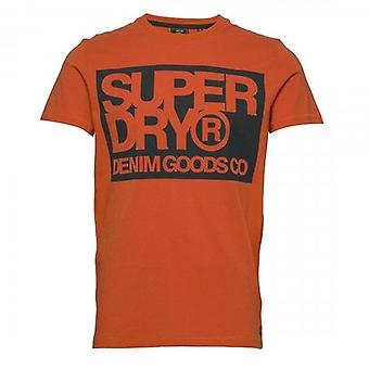 Superdry Denim Goods Co Print T-Shirt Rust 9SN