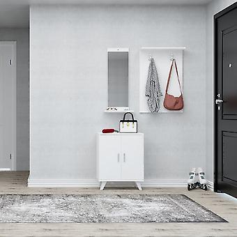 Mobiler Eingang Turmalin Farbe Weiß in Chip, Kunststoff, Metall 30x12x90 cm, 60x17x90 cm, 60x35x76 cm