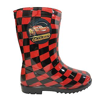 Disney cars boys wellies rain boots mcqueen red