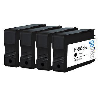 Cartouches d'encre compatibles 4 Go Inks pour remplacer hp 953Bk (capacité XL) compatible / non OEM pour les imprimantes HP Officejet