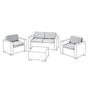 Gris 8 unid cojín de asiento set para Keter Allibert California sofa set