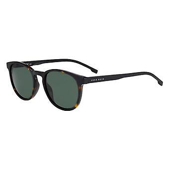 Hugo Boss 0922/S 086/QT Dark Havana/Green Sunglasses