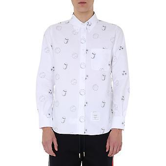 Thom Browne Mwl272a05035100 Men's White Cotton Shirt