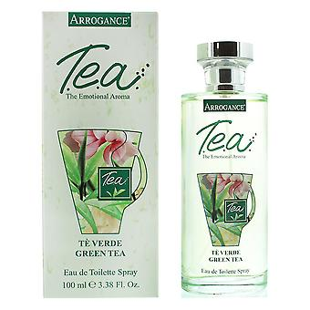 Arrogance Tea Green Tea Eau de Toilette 100ml Spray For Her
