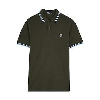 Fred Perry Twin getipt FP Green Shirt Polo