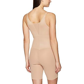Arabella Women's Firm Control Open Bust Bodysuit Shapewear, Nude, Small
