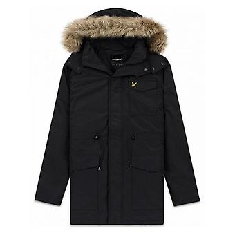 Lyle & Scott Black Parka Jacket