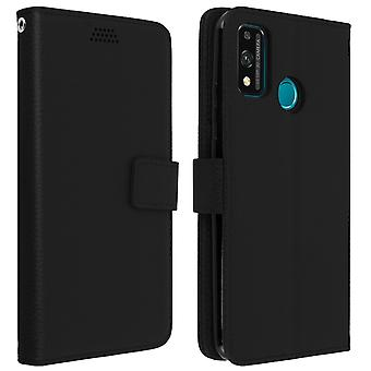Honor 9X Lite Folio Protective Case with Wallet Function - Black