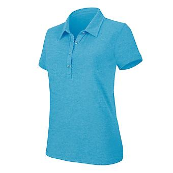 Kariban Womens/Ladies Melange Short Sleeve Polo Shirt