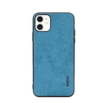 Voor iPhone 11 Case Fabric Texture Soft Slim Protective Fashionable Cover Blue