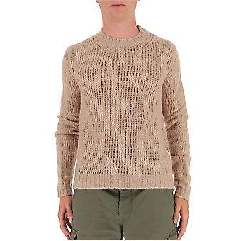 Marni Gcmg0143a0s1750100w33 Men's Beige Wool Sweater