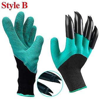 Gardening Gloves With Claws ABS Plastic Easy Raking Planting Dig Lawn Care Outdoor Living