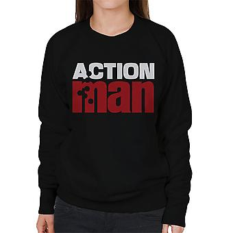 Action Man Logo Bullet Hole Women's Sweatshirt