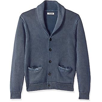 Goodthreads Men's Soft Cotton Shawl Cardigan Sweater, Washed Navy, X-Large