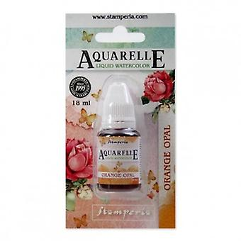 Stamperia Aquarelle Watercolor Orange Opal (18ml) (KAWCL02)