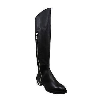DKNY Womens LoLita couro de amêndoa Toe joelho botas de equitação de alta