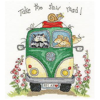 Bothy Threads Cross Stitch Kit - Take The Slow Road