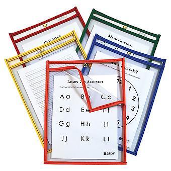 42620, Super Heavyweight Plus Dry Erase Pockets, Assortiti Primary Colors, 9 x 12, 25/BX, 42620
