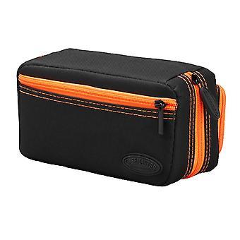 36-0702-09, Casemaster Plazma Pro Black con custodia a freccetta Orange Trim e tasca del telefono