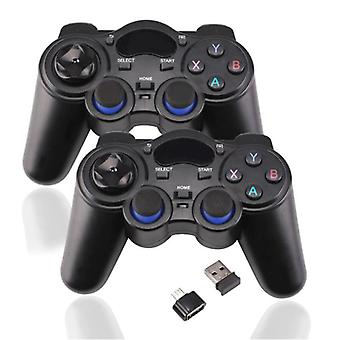 EastVita 2-Pack Gaming Controller for Android / PC / PS3 - Micro-USB Bluetooth Gamepad Black