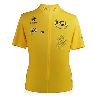 Bradley Wiggins signiert Tour De France 2012 Trikot