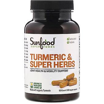 Sunfood, Turmeric & Super Herbs, 601 mg, 90 Capsules