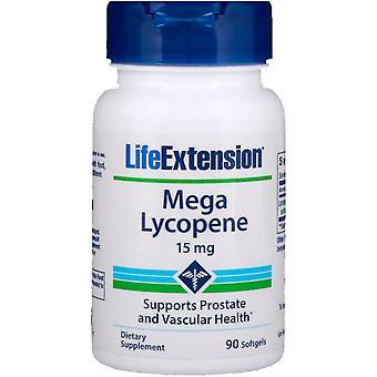 Prolongation de la durée de vie utile, Méga Lycopène, 15 mg, 90 Softgels