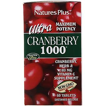 Nature's Plus, Ultra Cranberry 1000, 60 Tablets
