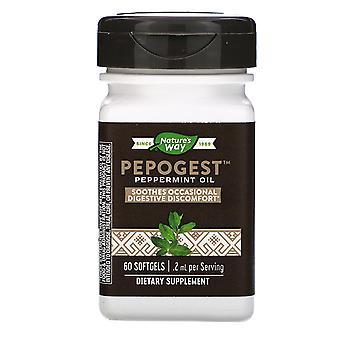 Nature's Way, Pepogest, Pfefferminzöl, .2 mg, 60 Softgels
